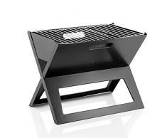 Innova-Goods Esclusivo BBQ Portatile salvaspazio Completamente richiudibile e Pieghevole - Barbecue Barbeque Grill da Viaggio in Acciaio a carbonella 0782