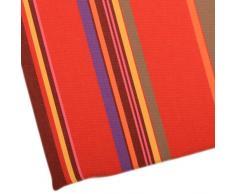 Apart 100051-38382-9011 - Cuscino per esterni, a righe multicolore, tonalità rosse