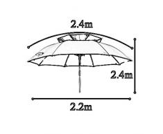 ZHUSAN Ombrello Da Pesca Universal Sunscreen Outdoor Parasole Grande Oversize Double Blue Ombrellone Per Giardino Cortile Balcone Beach