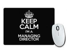 """Nero con scritta """"Keep Calm I'm a direttore colore 3368-Cassetta per posta Tappetino per Mouse"""