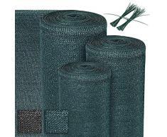 Sol Royal Telo ombreggiante SG 80-1000x100cm - Rete ombreggiante 165 g/m² - frangivento frangivista - Verde - Tessuto HDPE con Fascette - Recinzione in Tessuto per Serra, Giardino e Balcone