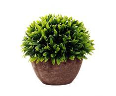 cosanter Vasi di Piante Artificiali di plastica Pianta simulazione fiore vaso decorativo Pianta Pot ornamenti per matrimonio soggiorno verde