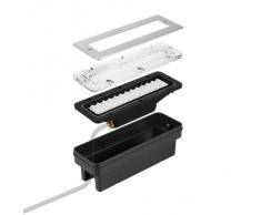 Parlat LED lampada per scale lampada da incasso a parete da esterno angolare 20x7cm 230V bianca calda, 2 PZ