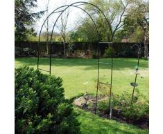 Arco per rose da giardino in acciaio, alto 2,4 m, per piante rampicanti