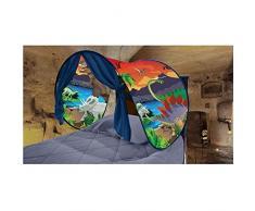 Flyinghedwig Tende Bambini da Sogno - Mondo Magico Dream Tents Pop Up Tenda Gioco per Bambini Regali di Compleanno e Natale (Isola dei Dinosauri)