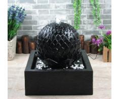 """Fontana solare """"Lotus"""" fontana zen set completo per giardino e terrazza giorno e notte"""