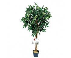 De Vielle 1,2 m artificiale albero di fico, 1344 realistico foglie verdi pianta in vaso