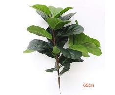 NHGFP Kk 122cm Grandi Artificiale Ficus Albero Ramo Verde Piante di Palma Tropicale Foglie Arbusto Faux Gomma Albero Decorazione della Casa (Color : 65cm 2fork)