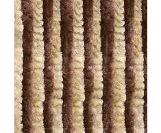 VERDELOOK Tenda Ciniglia da Sole 120x230 cm, Beige e Marrone, Fili: 27