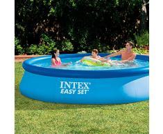 Intex-28143 Piscina Easy, Colore Blu, 396 x 84 cm, 12346
