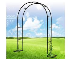 HRXQ Arco per Piante Rampicanti Nero Arco per Rampicanti da Giardino, Arco di Rose per Piante Rampicanti - 8 Dimensioni