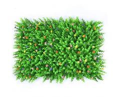 Pianta Artificiale Foglie Pannelli, Plastica Verde Cespuglio Pianta Arredamento Giardino Falso Allaperto Vegetazione Sfondo Decorazione Della Parete Per La Casa Matrimonio Balcone Partito Ufficio