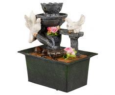Cascata d'acqua Fontana per interni, effetto calmante Feng Shui scrivania top Feature, Doves
