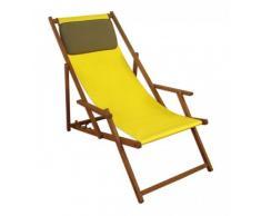 Sedia a sdraio Giallo – Sedia a sdraio pieghevole sedia a sdraio, lettino da giardino in legno Sedia da spiaggia Mobili da giardino 10 – 302 KD