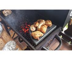 halbo valer Grill Pietra in Granito per il barbecue a sfera – 30 cm lungo 20 cm profondo 3 cm Stark