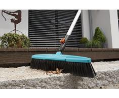 Scopa per esterni GARDENA combisystem: Stabile scopa per il giardino e i vialetti intorno alla casa, larghezza 45 cm, setole in polipropilene (3622-20)