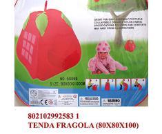 Tenda giocattolo da giardino casa mare per giochi bimbi fragola; dimensioni cm80*80*100