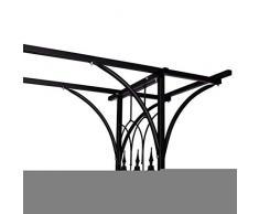 Wakects Arco da Giardino, Arco da Giardino per Piante Rampicanti Arco di Trionfo Decorazioni in Metallo per Rose Rampicanti, Pergolati per arredo Giardino e Decorazioni, 200x52x204 cm