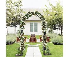 Outdoor Flower Garden arco traliccio, durable Steel Garden Arbor per piante rampicanti, decorazione per matrimoni, 7 20,3 cm di altezza x 4 12,7 cm ampia