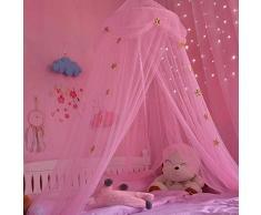 Casa tenda zanzariera per ragazze della camera dei bambini tenda Dome letto a baldacchino tenda blu rosa con stelle bianche Dream tenda decorazione della stanza tenda da gioco