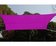 Tenda da sole rettangolare 3x4 m in tessuto impermeabile - Colore: VIOLETTO