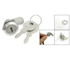 Sourcingmap a13011400ux0184 - 25 millimetri di altezza cam protezione della cassetta postale sostituzione dei metalli serratura w 2 chiavi