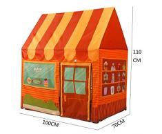 Tenda gioco per bambini Yiy dessert House/Bakery Playhouse Castle 100 * 70 * 110 cm, idea regalo per interni ed esterni Princess Castle Play Tent Playhouse per ragazzi e ragazze