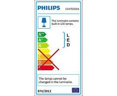 Philips Lighting Robin Lampada da Parete LED Up per Esterni Giardino, Nero