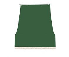 IlGruppone Tenda da Sole Tessuto Resistente per Balcone con Anelli Lavabile a Caduta - Verde - 280x295 cm