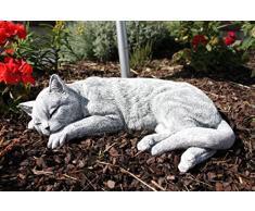 Statua Scultura gatto felino che dorme , fatto a mano, resistente al gelo