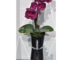 Modern orchidee artificiali fucsia Phaelaenopsis floreale Orchidea con foglie