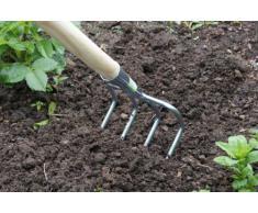 Connex FLOR30734 - Rastrello da giardino, zincata, 4 denti