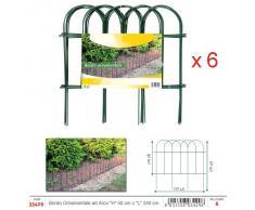 """Bettygarden Bordo Ornamentale Per Giardino Arco Verde (Conf 6 Pz /""""H"""" 40 Cm X""""L"""" 240 Cm) - Archi & Recinzioni"""