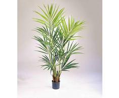 artplants.de Palma kenzia Artificiale, 192 Foglie, 200cm - Pianta Tessile/Albero Tropicale