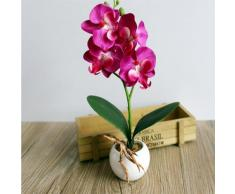 BODHI2000 - Orchidea Phalaenopsis artificiale per decorazione bonsai di casa o ufficio, Purple, taglia unica