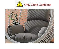 SQINAA Uovo di appendere amaca sedia cuscini senza stand,Altalena nido spessore cuscino di seduta sedia indietro con il cuscino d'attaccatura-I