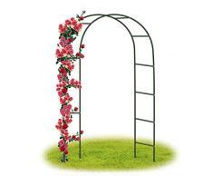 Forever Speed Arco per Rose Rampicanti , Decorazione Giardino, Garden Pergolas Metallo Arco Sostegno per Piante Rampicanti 240 x 140 x 38 CM / Verde