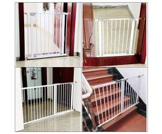 Cancelletto di Sicurezza Cancelli for Animali Domestici Scale Balcone Interno Ampio Autoserrante Gioco Cortile Camino Recinto Focolare BBQ Cancello Antincendio In Metallo Ampio Cancello Barriera Barri