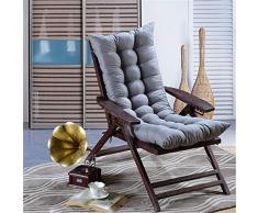 AGDLLYD Sedia a Sdraio da Giardino Sdraio Cuscini Imbottiti Patio reclinabili Lounge Cuscino del Sedile, 120 x 48 x 8 cm (Grigio)
