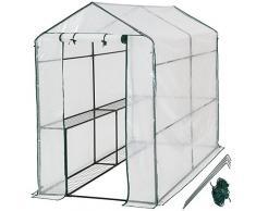 TecTake Serra da giardino in acciaio e PVC per piante - modelli differenti - (186x120x190cm | No. 401861)