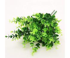 SD&EY 6 Pack mazzi di plastica pianta simulato eucalipto Foglie Artificiale arbusto Home Giardino Decorazioni,B
