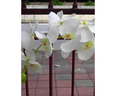 kiuytghnb il salotto pavimento matrimonio poliestere trapunta Orchidee Fiori Artificiali (1pc) White