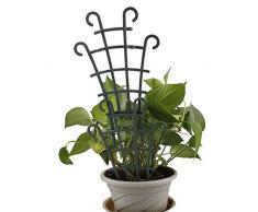 SH - Confezione da 6 graticci da Giardino per Piante rampicanti, 25,4 cm, in plastica, graticcio rampicante, per Verdure, Verdure, Fiori, Rose, cetrioli, Supporto