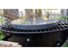 MW Rotondo Grill Pietra in Granito per Il Barbecue a Sfera – 28 cm Diametro 3 cm Stark