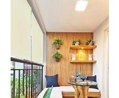 HENGMEI 100x240cm Tenda da Sole a Rullo Protezione dal Sole per Balcone e terrazza, Esterno Tende Verticali, Beige