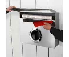 Radius Design Letterman XXL - Cassetta della posta in acciaio INOX In acciaio inox Acciaio inox