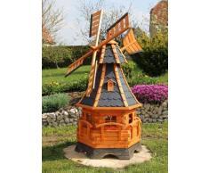 Grande mulino a vento con banderuola segnavento e solare Tipo 12.1 - blu, 1,20 m