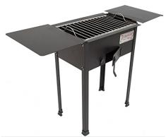 CRUCCOLINI BA1-X Barbecue Elba a Carbone, Nero, 87x30x60 cm