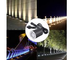 Lixada 3,2 V 0,2 W Mini Faretti Incasso Ricarica Solare LED Lampada da Giardino传感IP65 Impermeabile per Giardino Percorsi Metropolitana Pavimento Bagno 8PCS / 6PCS