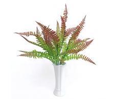 HUXUAN piante artificiali, arbusti artificiali, felce di Boston artificiale, foglie di arbusto, bouquet di plastica, per interni ed esterni, centrotavola, per casa, cucina, ufficio, matrimoni B